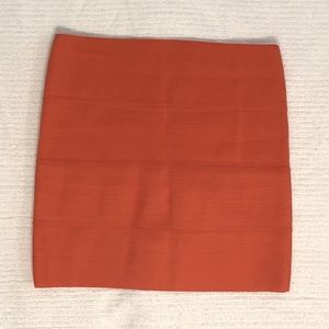 BB Dakota Orange Bandage Skirt
